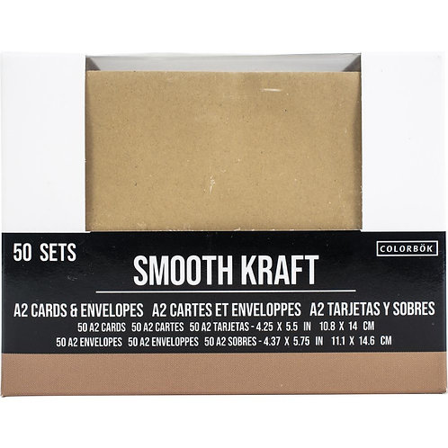 COLORBOK A2 Kraft Cards & Envelopes (50/pkg)