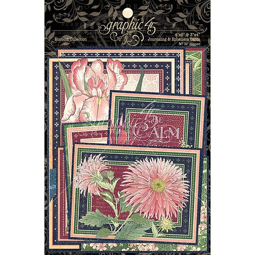 GRAPHIC 45 Blossoms Ephemera &Journal Cards