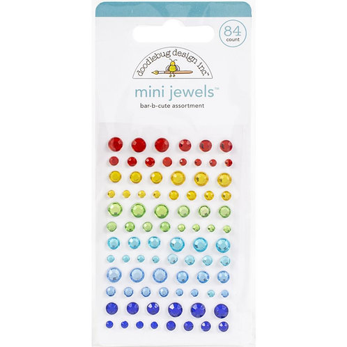 DOODLEBUG Adhesive Mini Jewels - Bar B Cute