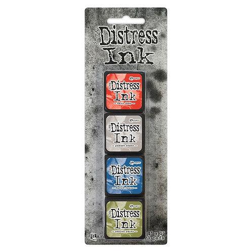 TIM HOLTZ Distress Mini Ink Pads 4/Pkg - Kit#5