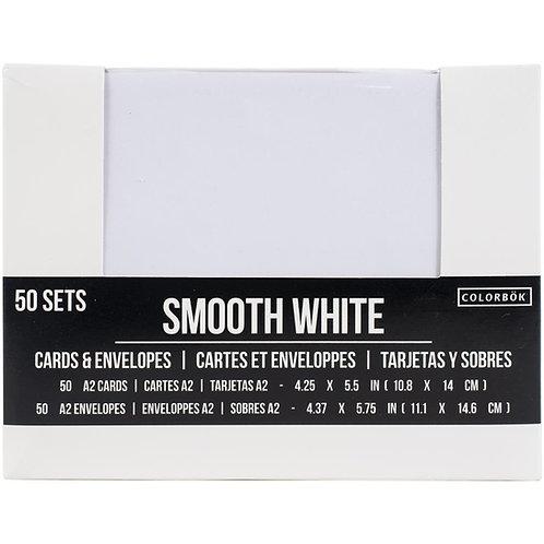 COLORBOK A2 White Cards & Envelopes (50/pkg)