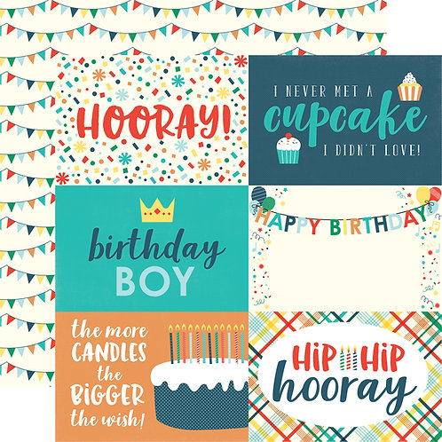 ECHO PARK Happy Birthday Boy - Journaling Cards
