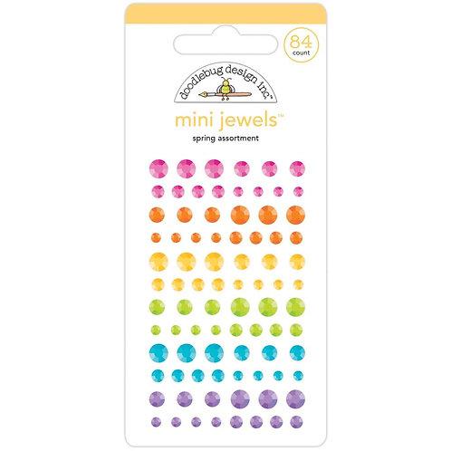 DOODLEBUG Adhesive Mini Jewels- Spring