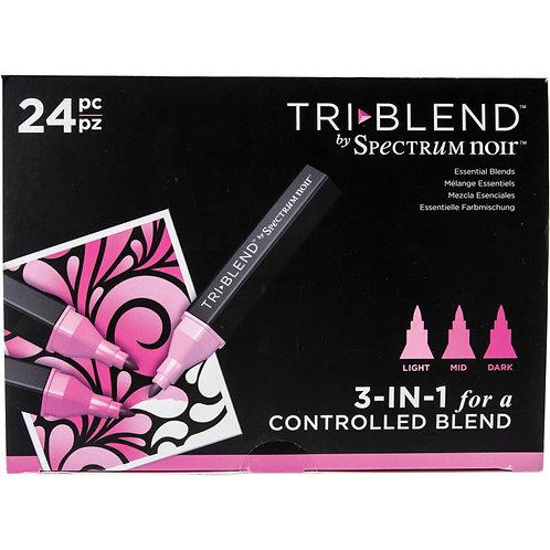 SPECTRUM NOIR Tri Blend Marker (24/pkg) - Essential Blends