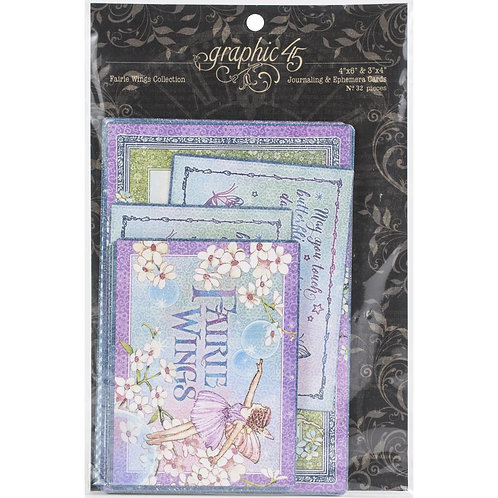GRAPHIC 45 - Fairie Wings Ephemera & Journal Cards