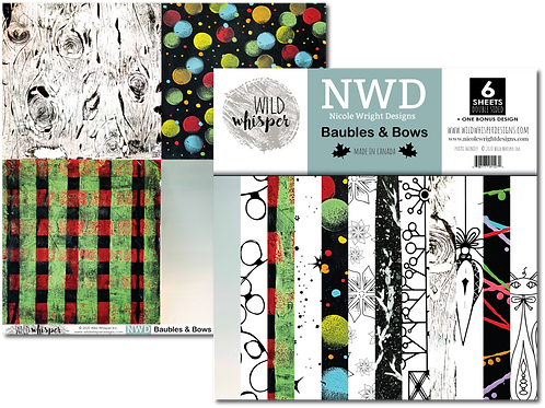 WILD WHISPERS Paper Pack - Baubles and Bows