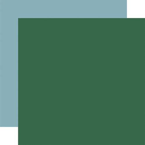 CARTA BELLA Designer Solids - Green/Light Blue