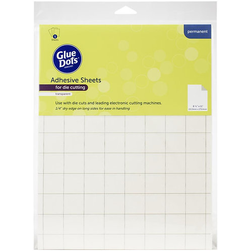 "GLUE DOTS Adhesive Sheets 8.5x11"" (5/pkg)"