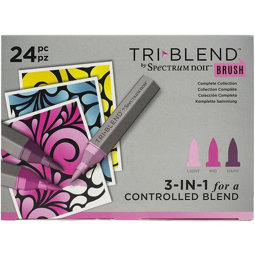 SPECTRUM NOIR Tri Blend Brush Markers (24/pkg)