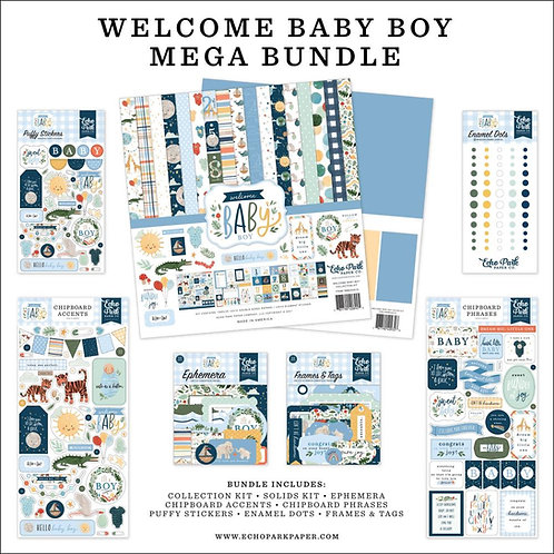 ECHO PARK Mega Bundle - Welcome Baby Boy