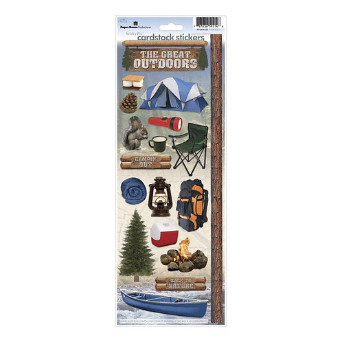 PAPER HOUSE Cardstock Sticker - Camping