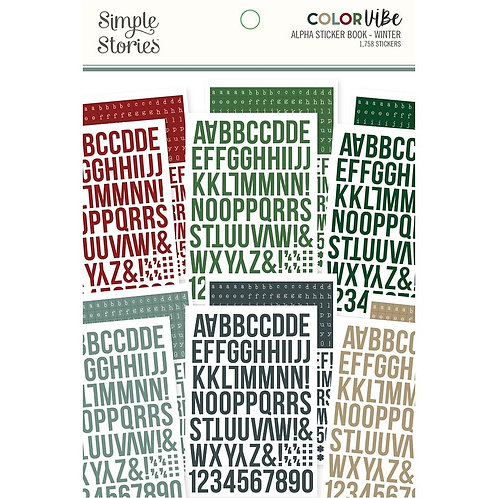 SIMPLE STORIES Color Vibe ABC - Winter