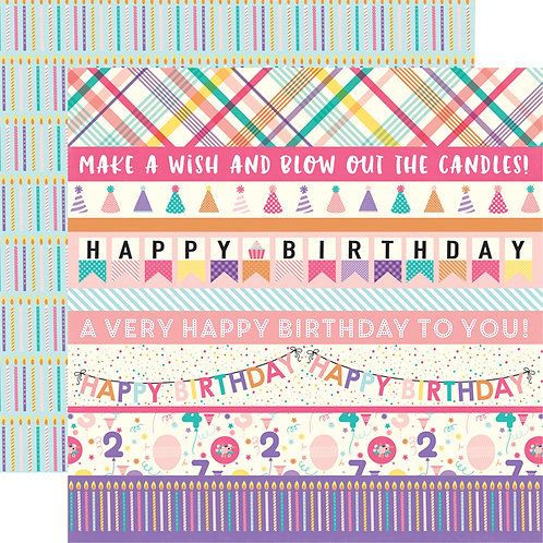 ECHO PARKIts Your Bday Border Strips Girl