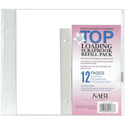 MBI 8x8 Page Refill (6/pkg)