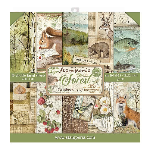 STAMPERIA Paper Pad - Forest