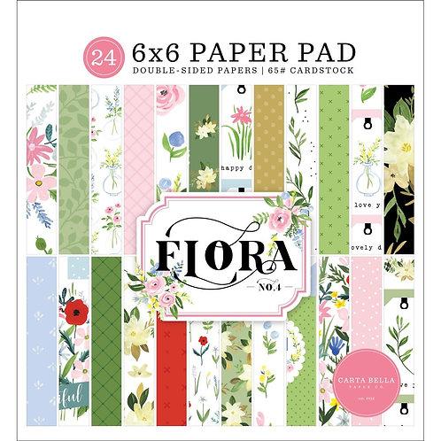 CARTA BELLA 6x6 Paper Pad - Flora No. 4