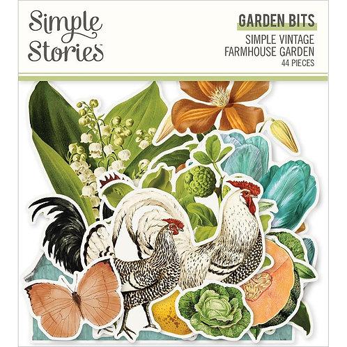 SIMPLE STORIES SV Garden Farmhouse - Garden Bits (44/pkg)