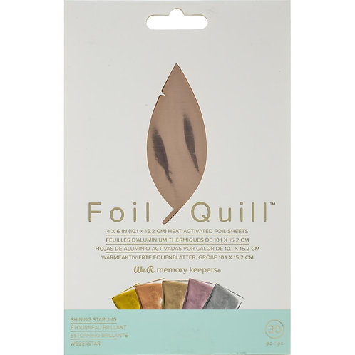 WE R MEMORY KEEPERS Foil Quill 4x6 Foil Sheets 30/pkg