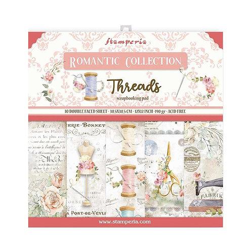 STAMPERIA Paper Pad - Romantic Threads