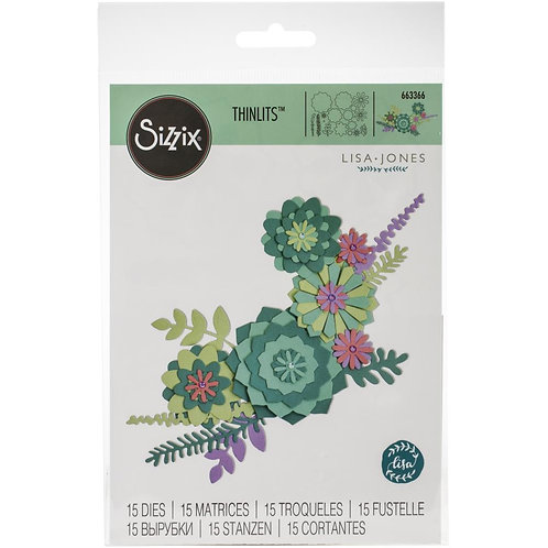 SIZZIX Thinlets Succulent Wreath