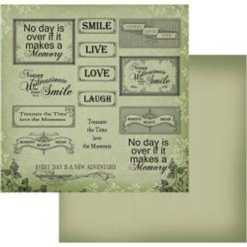 COUTURE CREATIONS Memory Words - Green