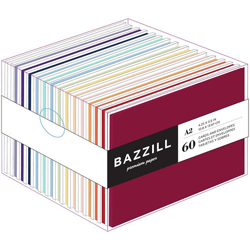 BAZZILL Value Pack Cards W/ Envelopes - Brights