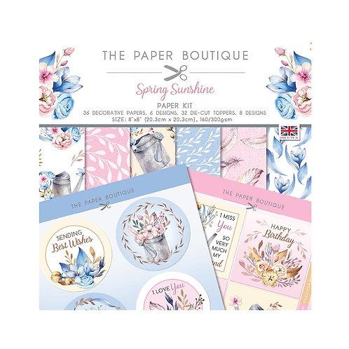 THE PAPER BOUTIQUE  8x8 Paper Kit -Spring Sunshine