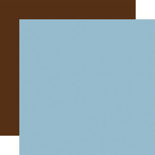 ECHO PARK Designer Solids - Light Blue/ Brown