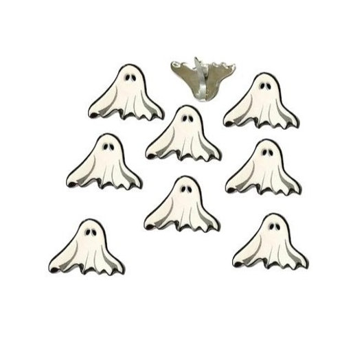 EYELET OUTLET Shaped Brads (12/pkg) - Ghosts