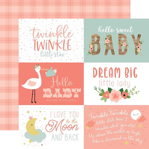 ECHO PARK Baby Girl Journaling Cards