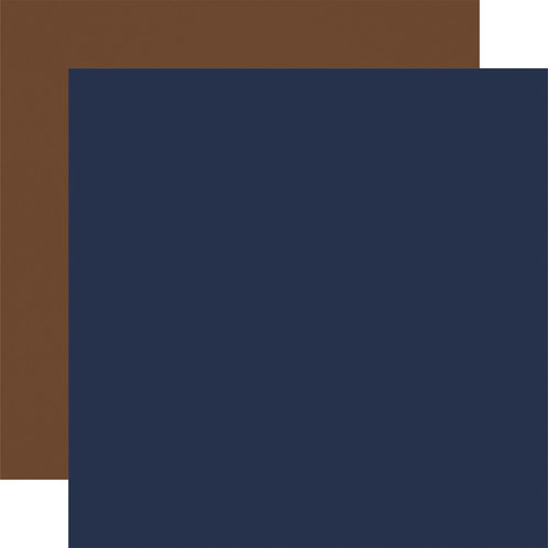 CARTA BELLA Designer Solids - Navy/Brown