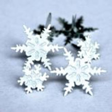 EYELET OUTLET Shaped Brads (12/pkg) - Snowflakes