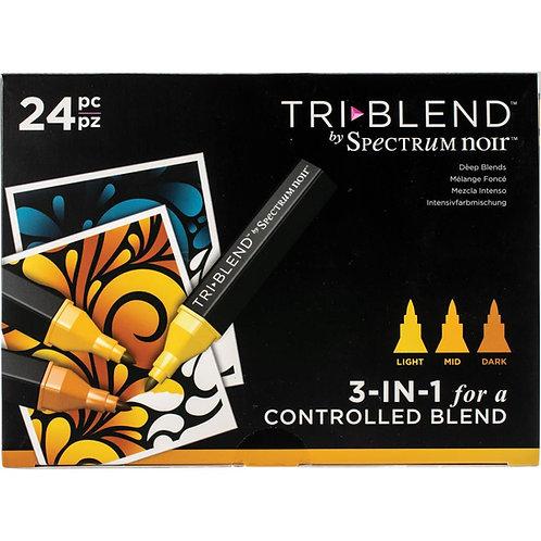 SPECTRUM NOIR Tri Blend Marker (24/pkg) - Deep Blends