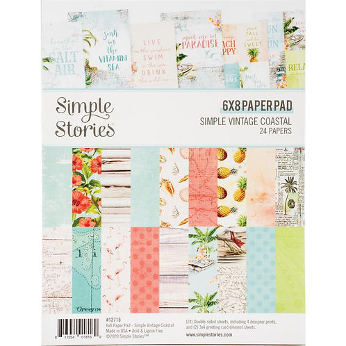 SIMPLE STORIES 6x8 Paper Pad - Coastal