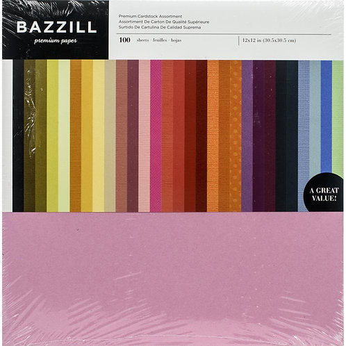 BAZZILL Cardstock Value Pack 100/pkg