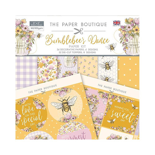 THE PAPERBOUTIQUE 8x8 Paper Kit - Bumblebee's Dance