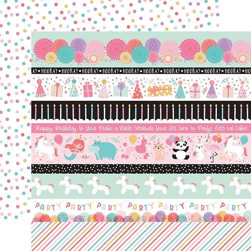 ECHO PARK Happy Birthday Girl - Border Strips