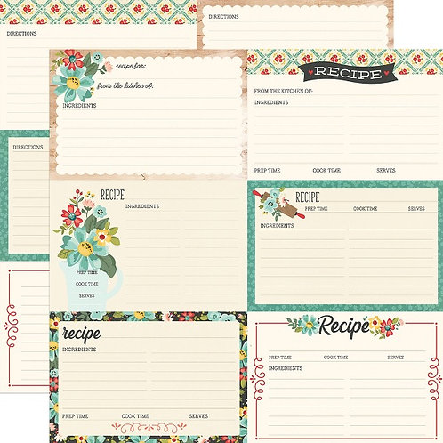 SIMPLE STORIES- Apron Strings Recipe Cards