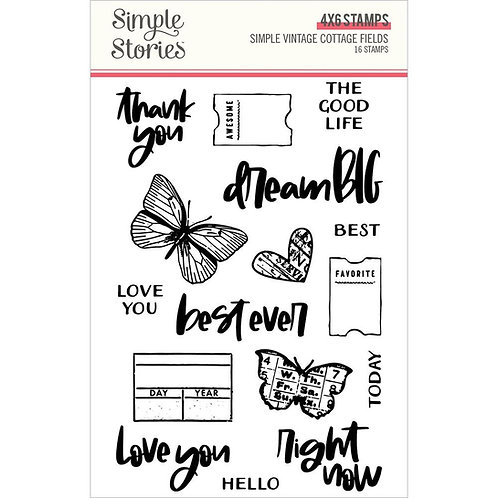 SIMPLE STORIES Cottage Fields Stamp