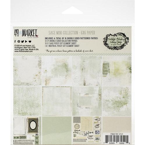 49 & MARKET 6x6 Vintage Artistry Sage