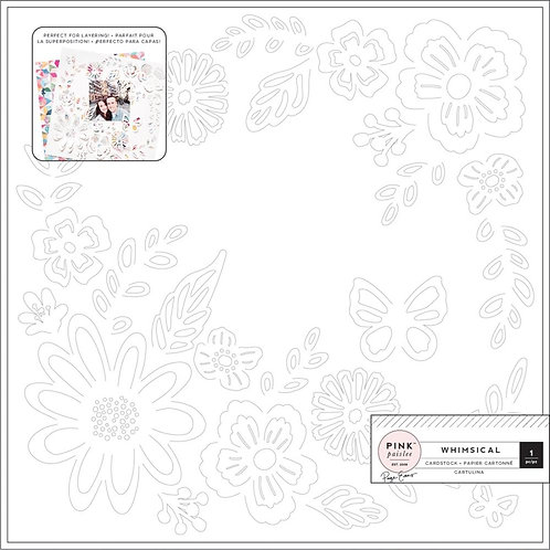 PINK PAISLEE Whimsical Cardstock