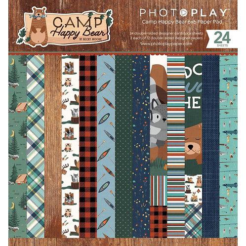 PHOTO PLAY 6x6 Paper Pad Camp Happy Bear