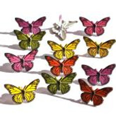 EYELET OUTLET Shaped Brads (12/pkg) - Butterflies