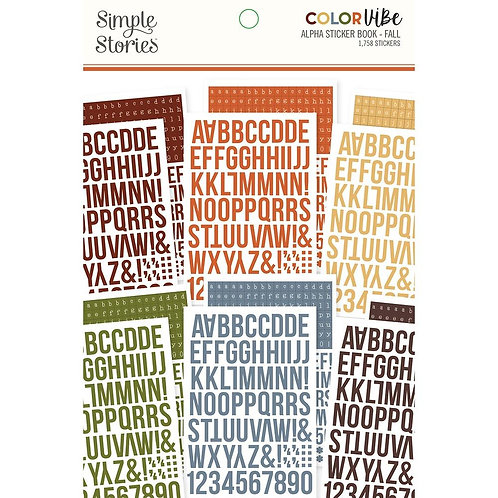 SIMPLE STORIES Color Vibe ABC - Fall