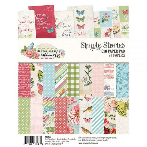 SIMPLE STORIES 6x8 Paper Pad - SV Botanicals