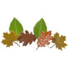 EYELET OUTLET Shaped Brads (12/pkg) - Fall Leaves