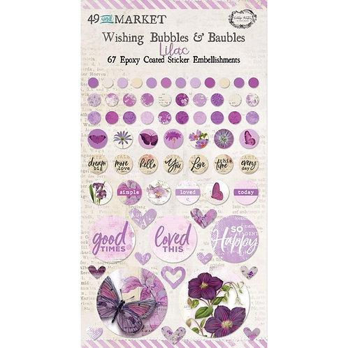 49 & MARKET 6x6 Epoxy Coated Bubbles Lilac