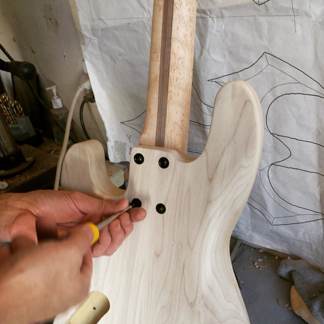Attaching the neck for the first time