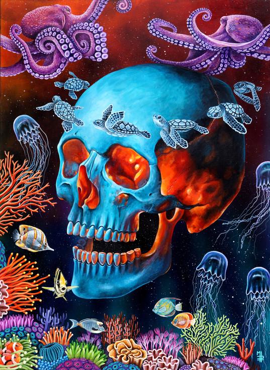 mpgautheron-painting-skull-sea-14b copie