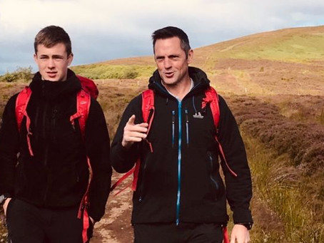 Father and son tackle PTSD cycling UK's tallest peaks